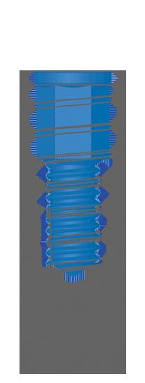"""Impianto cilindrico tipo """"C"""" Inthex Matrix Bioservice"""